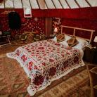 A stunning 18ft yurt with a double bed and all the trimmings for super special camping experience. #yurts #glamping #festivals
